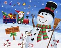 Noth Pole Snowman Fine Art Print
