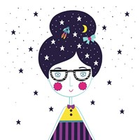 Space Girl Fine Art Print