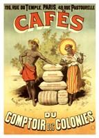 """Cafes du Comptoir des Colonies by Clemente Micarelli - 6"""" x 8"""""""