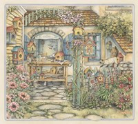 Cobblestone Birdhouses Fine Art Print