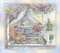 Daybed On The Porch Fine Art Print