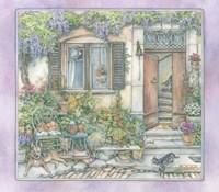 French Village Gardening Fine Art Print
