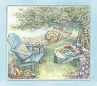Hammock Under The Apple Tree Fine Art Print