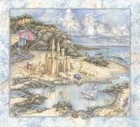 Sandcastle psd Fine Art Print