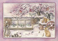 Snowy Crabapple Fine Art Print
