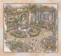 Well inthe Garden Fine Art Print