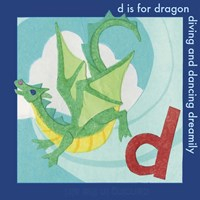 D is For Dragon Fine Art Print