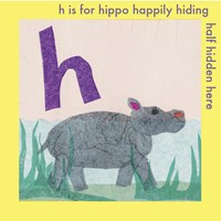 H is For Hippo Fine Art Print