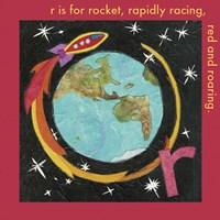 R is For Rocket Fine Art Print