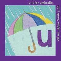 U is For Umbrella Framed Print