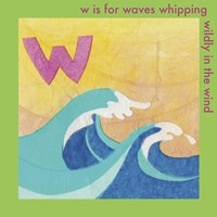 W is For Wave Framed Print