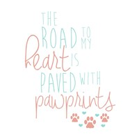 Paved With Pawprints Fine Art Print