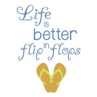 Better In Flip Flops Fine Art Print