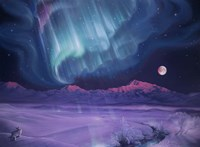 Snowfield Illumination Fine Art Print