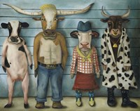 Cattle Line Up Fine Art Print