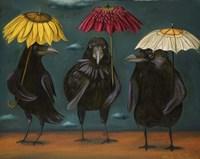 Ravens Rain Framed Print