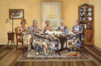 The Quilting Party Fine Art Print