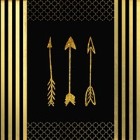 Black & Gold - Feathered Fashion Arrow Fine Art Print