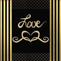 Black & Gold - Feathered Fashion Love Fine Art Print