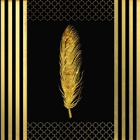 Black & Gold - Feathered Fashion Fine Art Print
