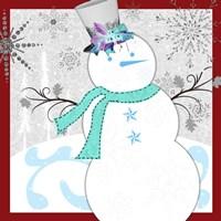 Christmas Snowman 1 Fine Art Print