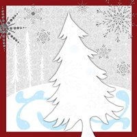 Christmas Snowman Tree Fine Art Print