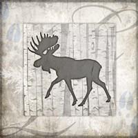 Decorative Lodge Moose 2 Fine Art Print