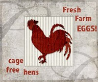 Decorative Pattern Farm Fresh Chicken Fine Art Print