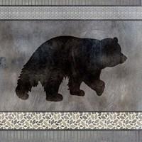 Bear Pattern square Fine Art Print