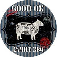 Good Ol' Family BBQ Round Fine Art Print