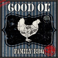 Good Ol' Family BBQ Square Chicken Fine Art Print