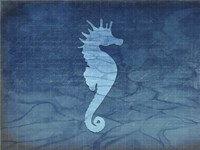 Gypsy Blue Cyanotype V5 Framed Print