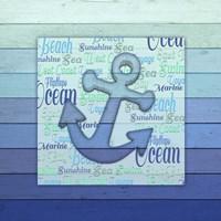 Gypsy Sea Blue V5 2 Framed Print
