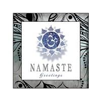 Chakras Yoga Framed Namaste V3 Fine Art Print
