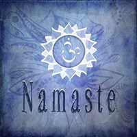 Chakras Yoga Namaste V1 Fine Art Print