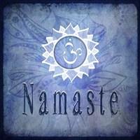 Chakras Yoga Namaste V2 Framed Print