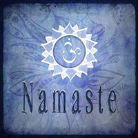 Chakras Yoga Namaste V2 Fine Art Print