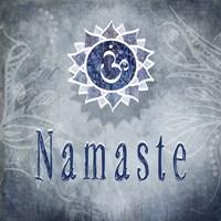 Chakras Yoga Namaste V3 Framed Print