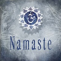 Chakras Yoga Namaste V3 Fine Art Print