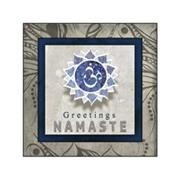 Chakras Yoga Tile Namaste V1 Fine Art Print