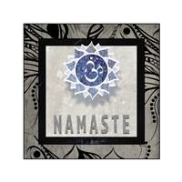 Chakras Yoga Tile Namaste V2 Framed Print