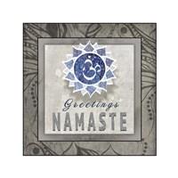 Chakras Yoga Tile Namaste V3 Fine Art Print