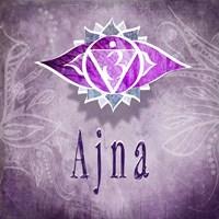Chakras Yoga Ajna V3 Fine Art Print