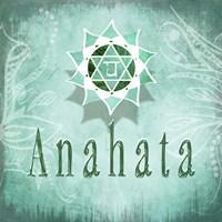 Chakras Yoga Anahata V3 Framed Print