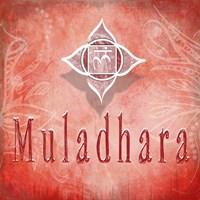 Chakras Yoga Muladhara V3 Framed Print