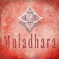 Chakras Yoga Muladhara V3 Fine Art Print