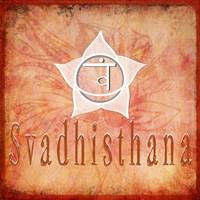 Chakras Yoga Svadhisthana V2 Framed Print