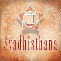 Chakras Yoga Svadhisthana V3 Framed Print