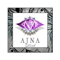 Chakras Yoga Framed AJNA V3 Fine Art Print