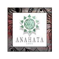 Chakras Yoga Framed Anahata V2 Fine Art Print
